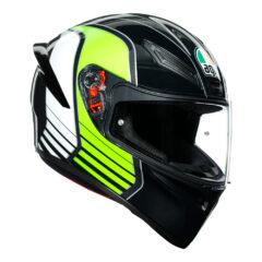 Power Gunmetal/White/Green AGV K1 Helmet