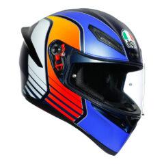 Power Blue/Orange/White AGV K1 Helmet