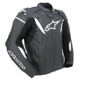 Black/White Alpinestars GP-R Leather Jacket
