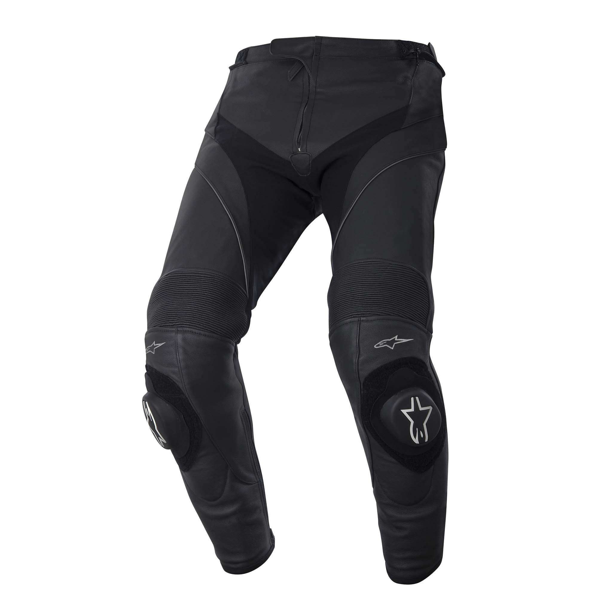 Black Alpinestars Missile Leather Pants