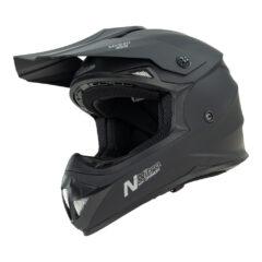 Satin Black Nitro MX620 Podium Helmet Left