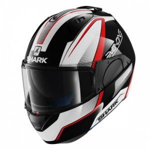 Black/White/Red Shark Evo-One Astor Helmet