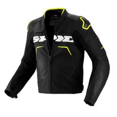 Black/Fluro Spidi Evo Rider Leather Jacket