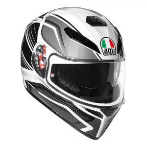 Black/Silver AGV K-3 SV Proton Helmet