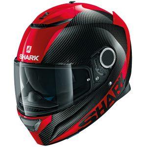 Shark Spartan Helmet - Carbon Skin Red