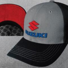 S990AM-SLCAP Suzuki 3D Embroidered Logo Cap