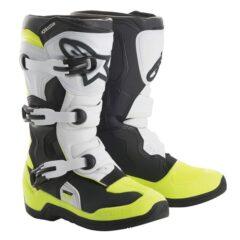 Black/White/Yellow Alpinestars Tech 3S V2 Youth Boot