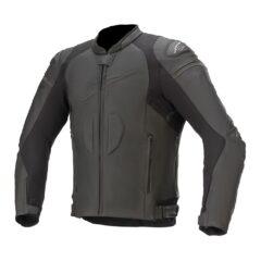 Black Alpinestars GP PLus R V3 Airflow Leather Jacket Front