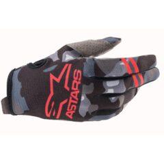 Camo/Red Alpinestars Radar Youth Glove