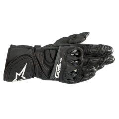 Black Alpinestars GP Plus R V2 Leather Gloves Back
