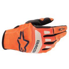 Orange/Blue/White Alpinestars Techstars Glove