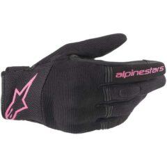 Black/Fuchsia Alpinestars Stella Copper Glove Back