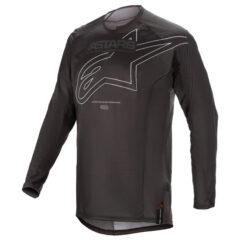 Black/White Alpinestars Techstar Phantom Jersey Front