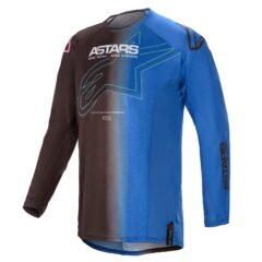 Black/Blue Alpinestars Techstar Phantom Jersey Front
