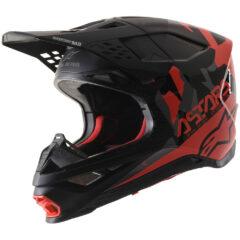 Black/Grey/Red Alpinestars Supertech M8 Echo Helmet Left