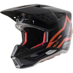 Black/Orange Alpinestars Supertech M5 Compass Helmet Left