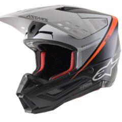 Black/White/Orange Alpinestars Supertech M5 Rayon Helmet Left