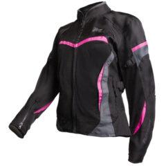 Black/Magenta MotoDry Clio Ladies Jacket Front