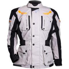 Black/Grey/Orange MotoDry Rallye Jacket Front