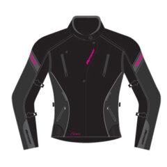 Black/Magenta MotoDry Siena Ladies Jacket Front