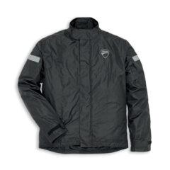 Black Ducati Strada 2 Rain Jacket Front