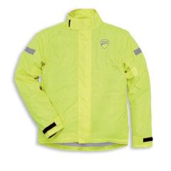High Vis Ducati Strada 2 Rain Jacket Front