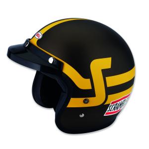 Brown/Yellow Ducati Scrambler Short Track Open Face Helmet