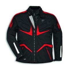 Black/Red Ducati Tour V2 Fabric Jacket