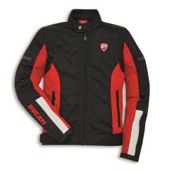 Black/Red Ducati Summer 3 Fabric Jacket