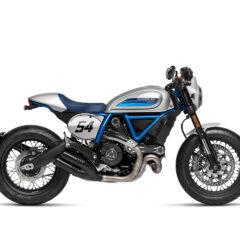 Ducati Scrambler Cafe Racer 2019 Silver Ice Matte right side