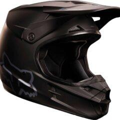 Matte Black Fox V1 Youth Helmet