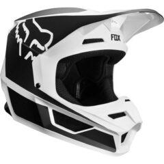 Black/White Fox Racing V1 Przm Youth Helmet