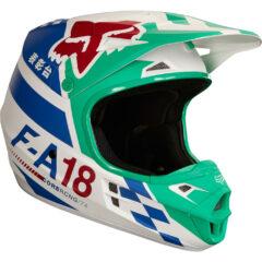 Green Fox Racing V1 Sayak Youth Helmet