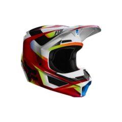 Red/White Fox Racing V1 Motif Youth Helmet