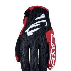 Black/White/Red Five MXFS MX Glove Back