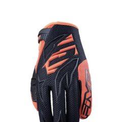 Black/Fluro Orange Five MXF3 MX Glove Back
