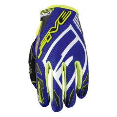 Blue/Yellow Five MXF Prorider S Glove Back