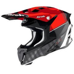 TEch Red Gloss Airoh Twist 2.0 Helmet Side