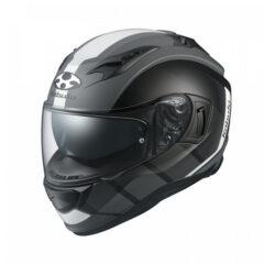 Matt Black White Kabuto Hikari JM Helmet Side
