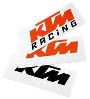 KTM Logo Van Sticker Orange/White