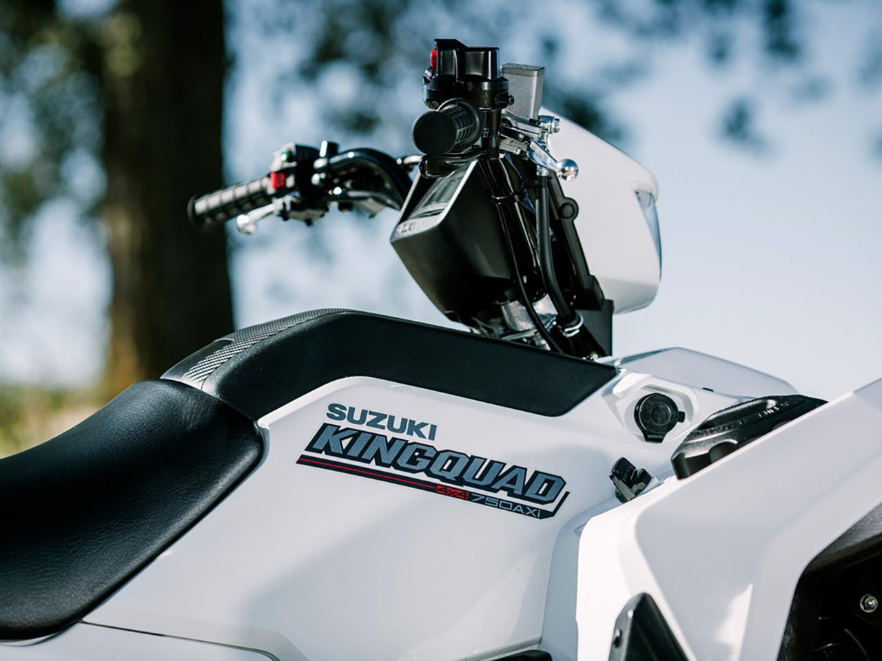 Suzuki KingQuad 750 4×4 Power Steering SE 2019 - Snow White ⋆ Motorcycles R  Us