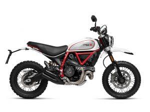White Mirage Ducati Scrambler Desert Sled