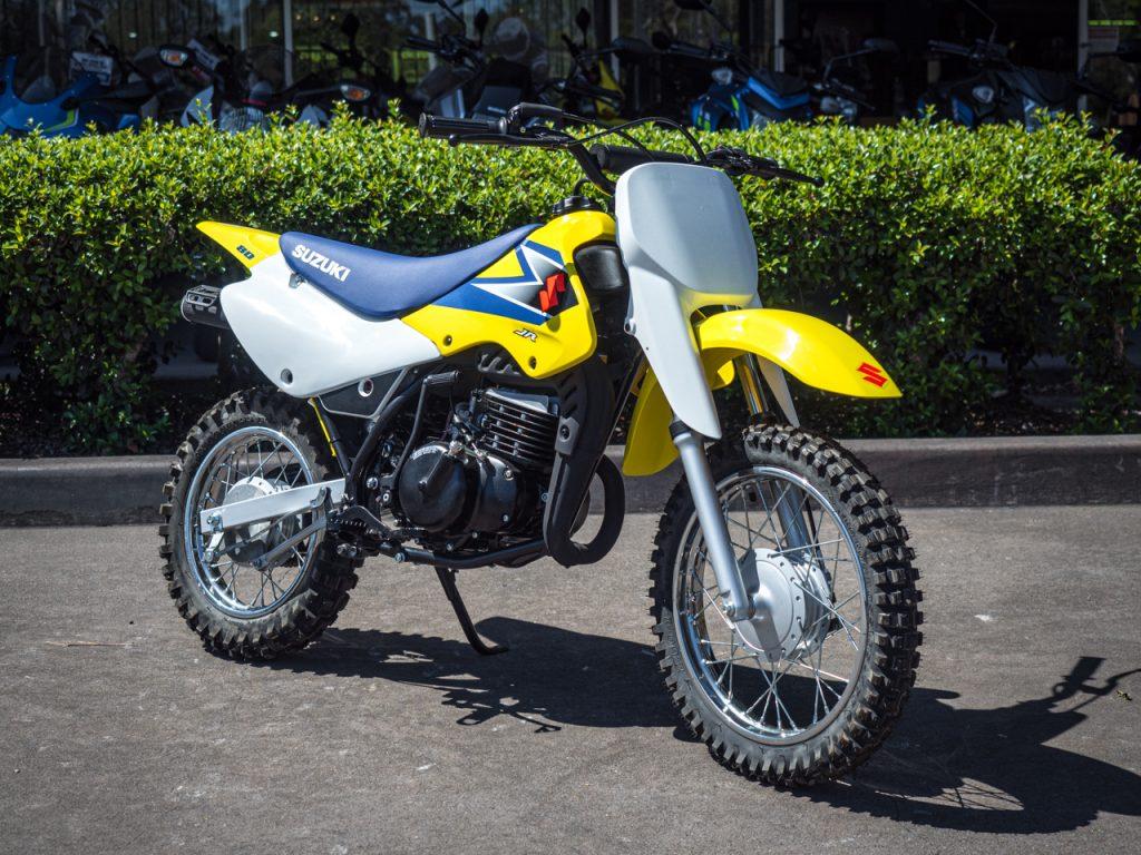 Yellow Blue Suzuki JR80 2006