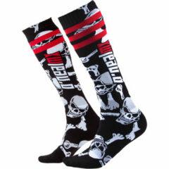 Black/White Crossbones O'Neal Pro MX Socks