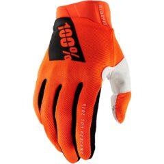 Fluro Orange 100% Ridefit Glove