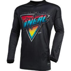 Speedmetal Black/Multi O'Neal 21 Element Threat Jersey Front