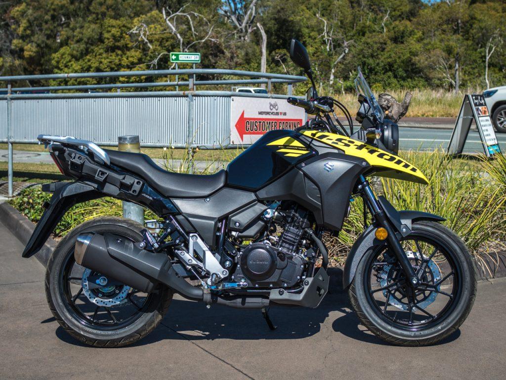 Suzuki V-Strom 250 Yellow PreProduction 2018 Right Side