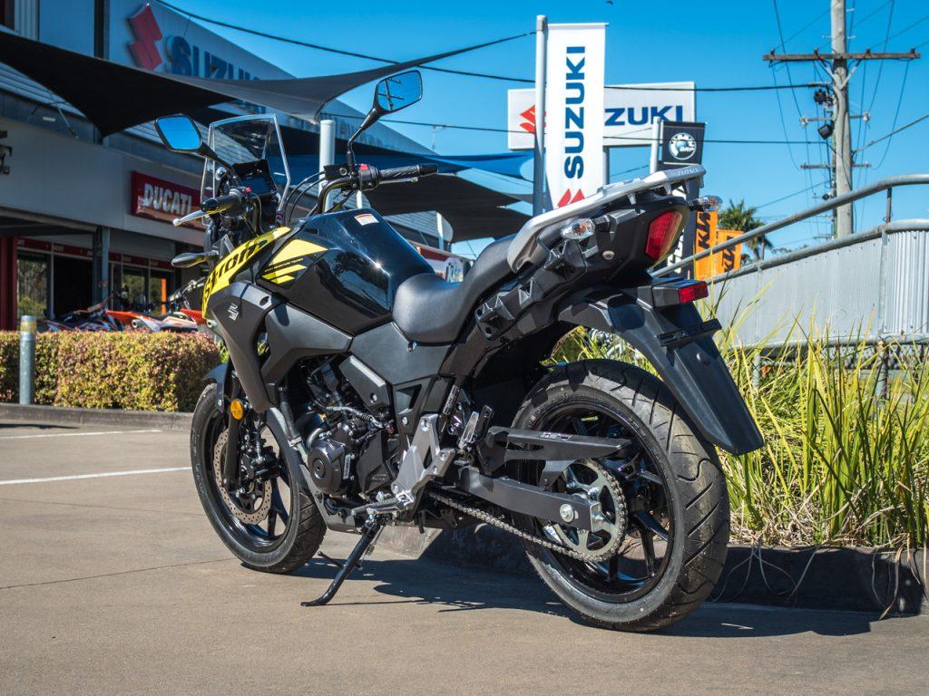 Suzuki V-Strom 250 Yellow PreProduction 2018 Left Rear