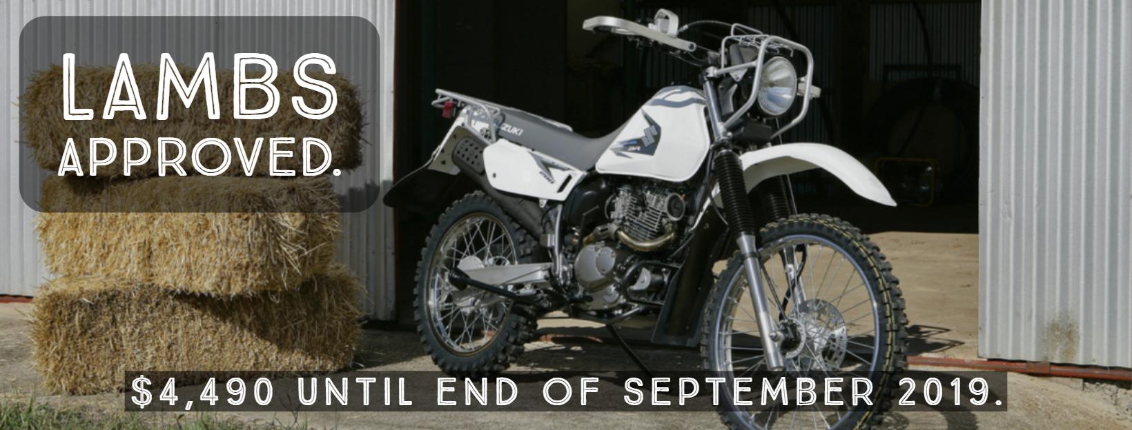 Suzuki Trojan Ag Bike on sale for $4490 ride away until end of September 2019.