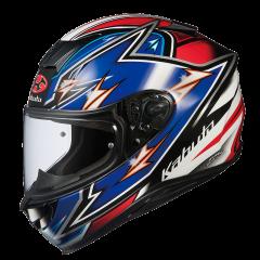 Yajiri Blue/Red Kabuto Aeroblade 5 Helmet